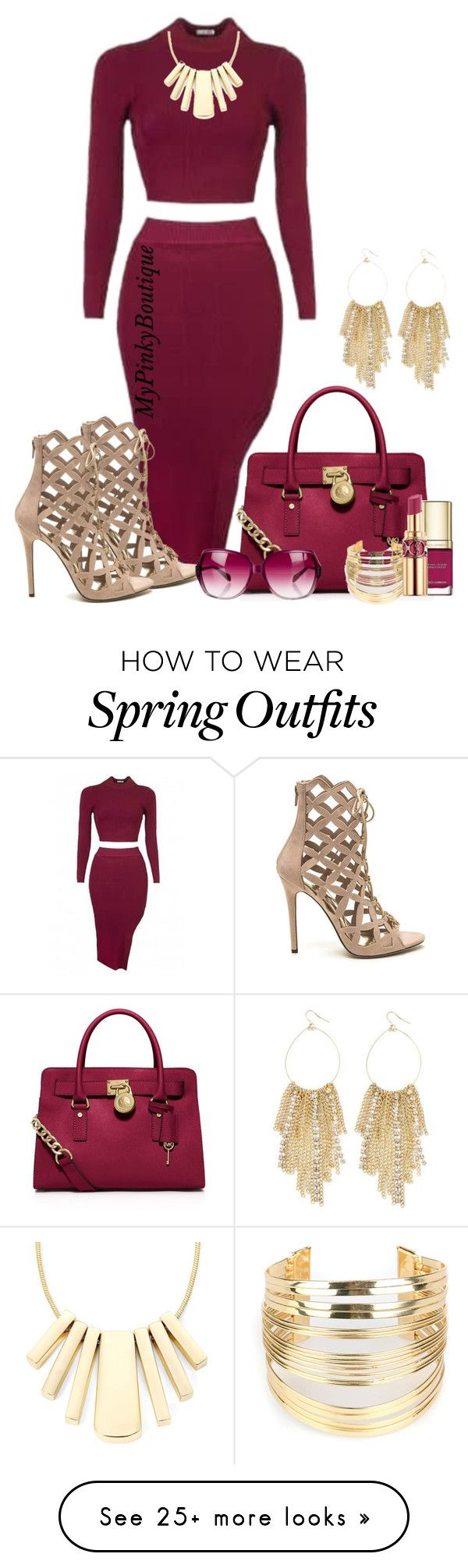 """#725"" by gorgeousmama29 on Polyvore featuring MICHAEL Michael Kors, Venus, Liz Claiborne, WithChic, Dolce&Gabbana, Yves Saint Laurent and Oliver Peoples"