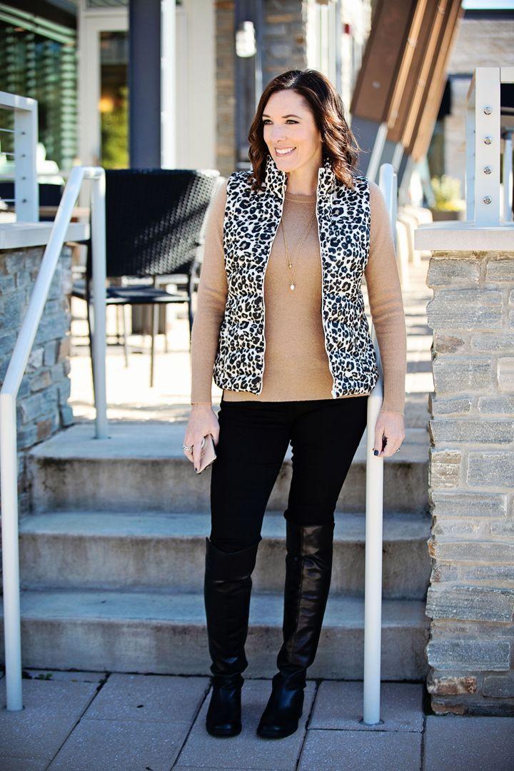 d921648341a Jo-Lynne Shane wearing Loft Leopard Print Vest