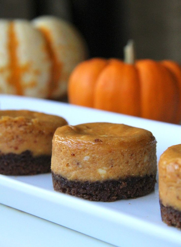 Mini Pumpkin Cheesecakes With Ginger Snap Cookie Crust