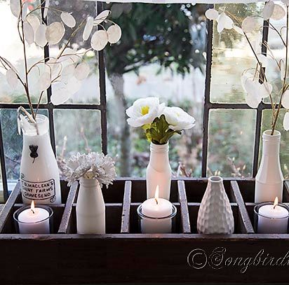 Spring decoration on the window sill.