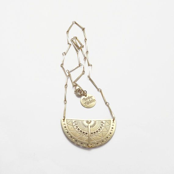 Hey, I found this really awesome Etsy listing at https://www.etsy.com/il-en/listing/208097764/gold-plated-brass-necklace-cut-and