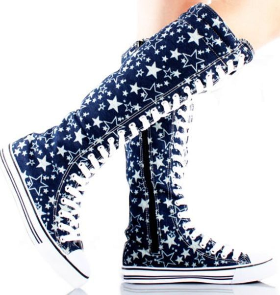 knee high converse | Converse Knee High Boots - Elizabeth's Converse Shoes