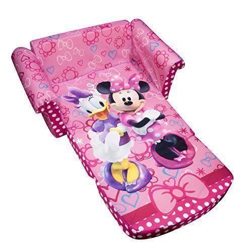 Sofa Foam 2in1 Flip Open Children Furniture Disney New Minnieu0027s Bow Tique  Pink
