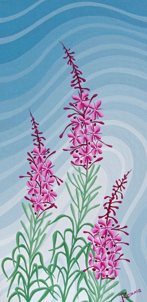Northern Fireweed 2 by Robbie Craig — a piece I'd love to get sometime. :)