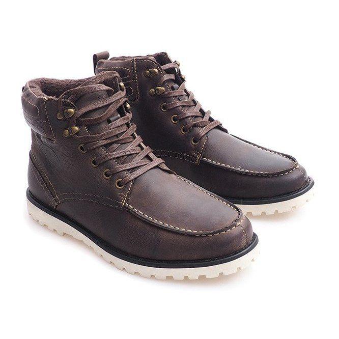 Ocieplane Wysokie Trapery Polbuty Sh26 Brazowy Brazowe Boots High Boots High Shoes