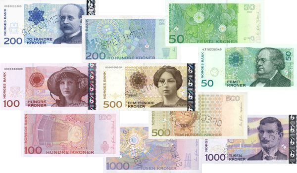 In Norway, even the currency looks nice. although I never saw currency this high LOL  Took a bit to get used to colored money but it made sense...if you think about it, at the time (88-89) American dollars were all green, very confusing to foreigners!