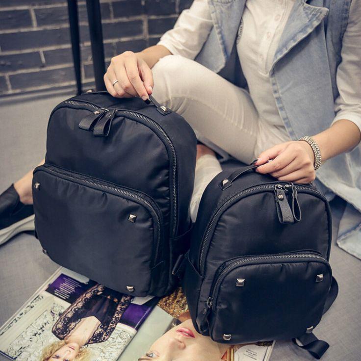 Solid Black Backpack Women Cute School Backpacks for Teenage Girls Fashion Campus Laptop Bag Rucksack Bagpack Female Schoolbag