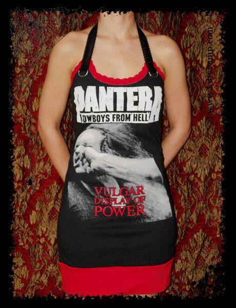 Pantera Vulgar Display Power Metal Halter Mini Dress M L XL. $39.99, via Etsy.