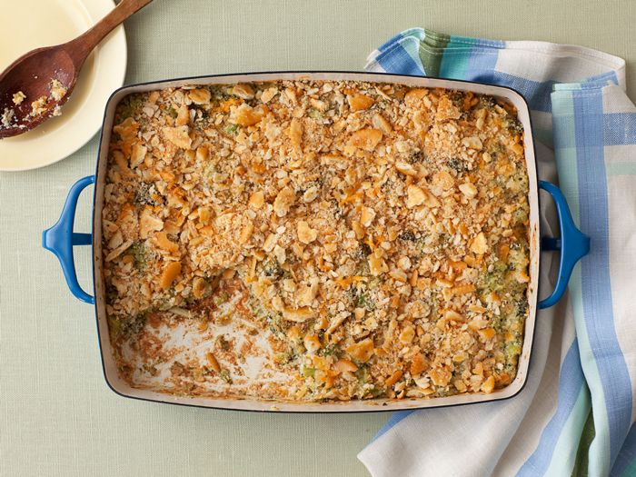 Broccoli Casserole from FoodNetwork.com: Food Network, Casseroles Recipes, Deen Broccoli, Side Dishes,  Meatloaf, Meat Loaf, Casserole Recipes, Broccoli Casseroles, Paula Deen