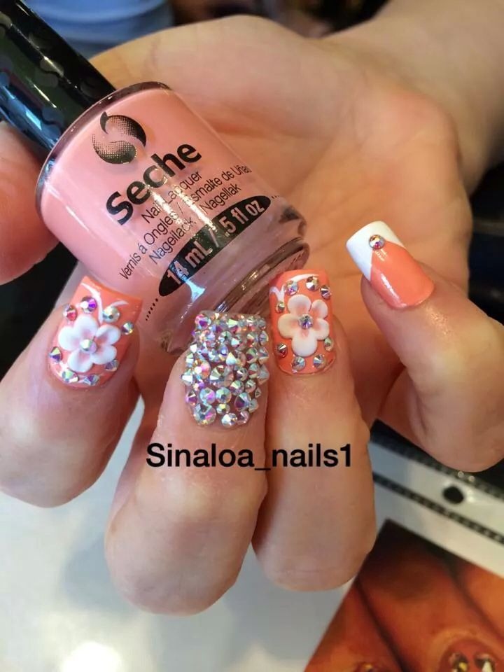Best 25 sinaloa nails ideas on pinterest bling nail art for 3d nail art salon new jersey