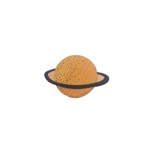 Broche planeta naranja