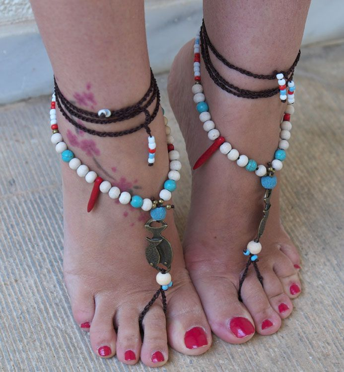 barefoot sandals brown fish