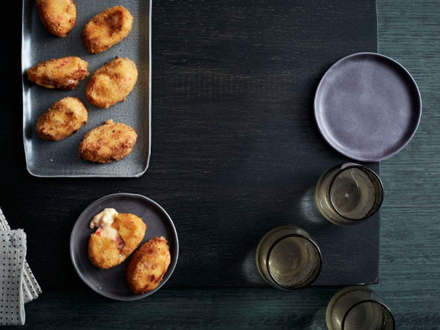 Picture of Manchego and Ham Croquetas Recipe from Chef Jose Garces.