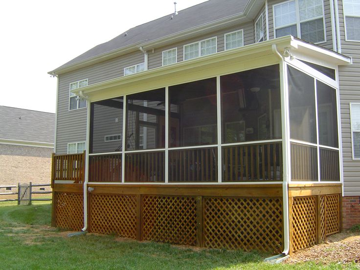 40 best screened in porches images on pinterest | porch ideas ... - Covered Screened Patio Designs