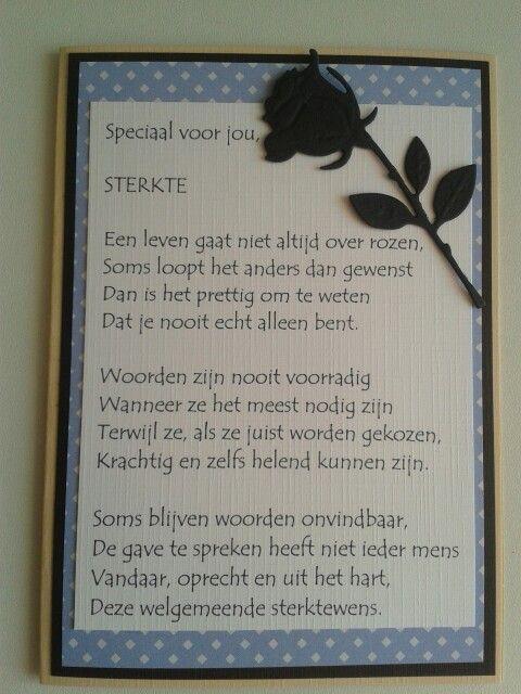 Sterktekaart met roos en tekst.