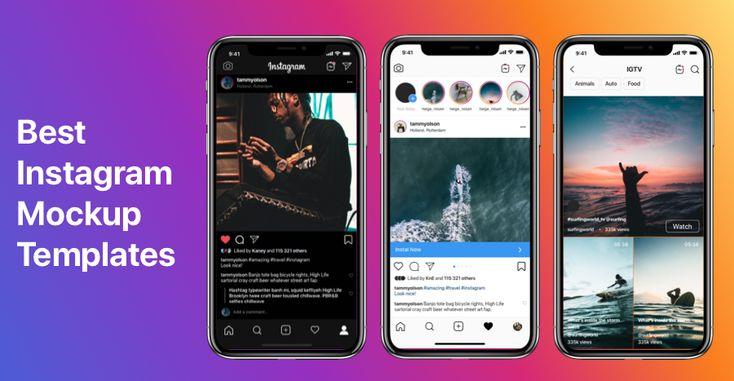 Instagram Mockup 2020 Free Download Psd Sketch Figma Instagram Mockup Iphone Instagram Mockup