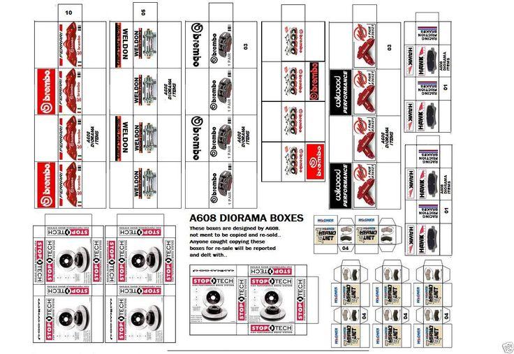 1 18 Diorama Brakes Box Set 23 For Shop Garage Accessories