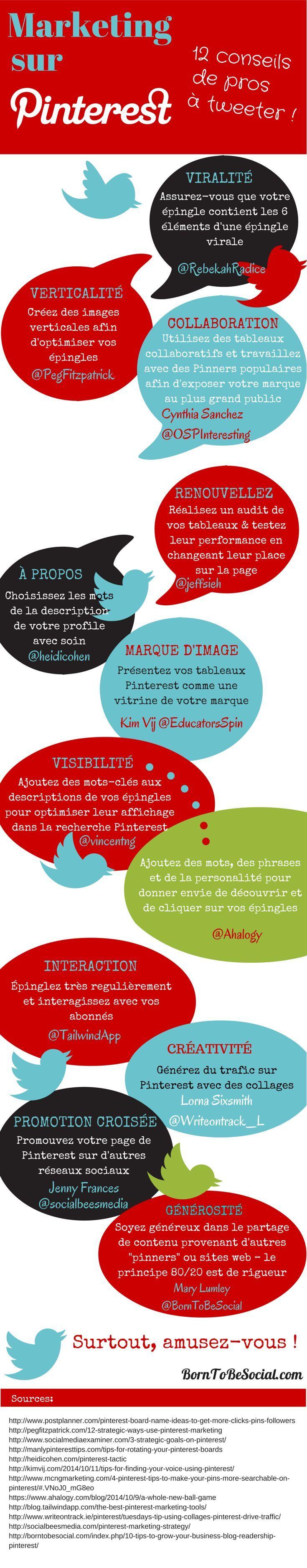 Marketing sur Pinterest : 12 conseils de pros [Infographie] | @borntobesocial