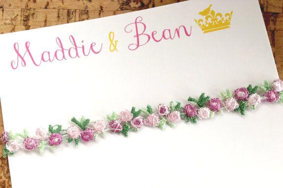 Pretty floral boho headband