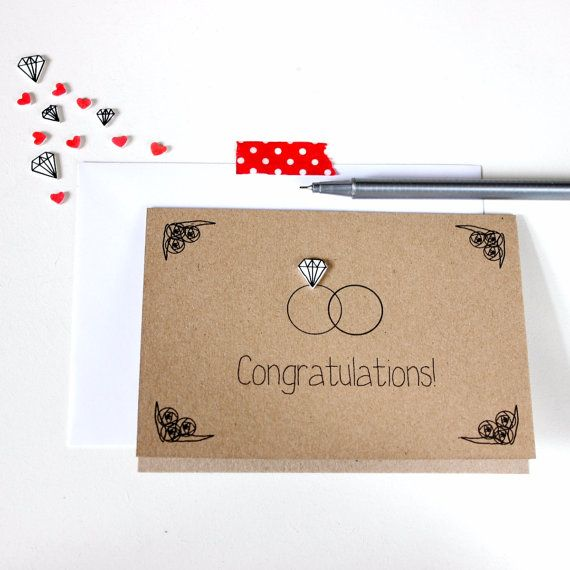 Handmade Wedding Card // Wedding by LittleSilverleaf on Etsy