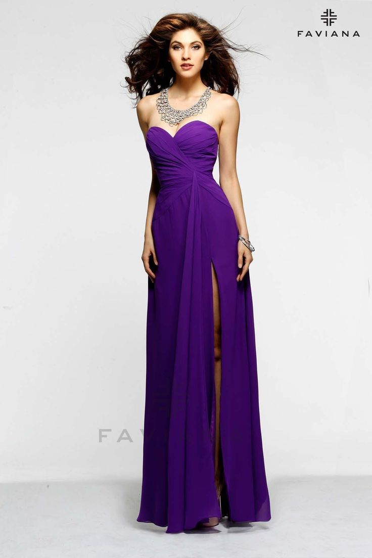 58 best purple bridesmaid dresses images on pinterest purple long royal purple bridesmaid dress with high split strapless spotted from faviana ombrellifo Gallery