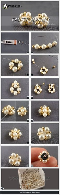 Jewelry Making Tutorial--How to Make Earring Studs with Pearls