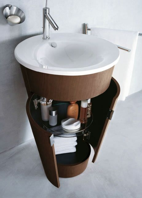 Wall-mounted washbasin cabinet / design STARCK 1: #040658 by Philippe Starck DURAVIT