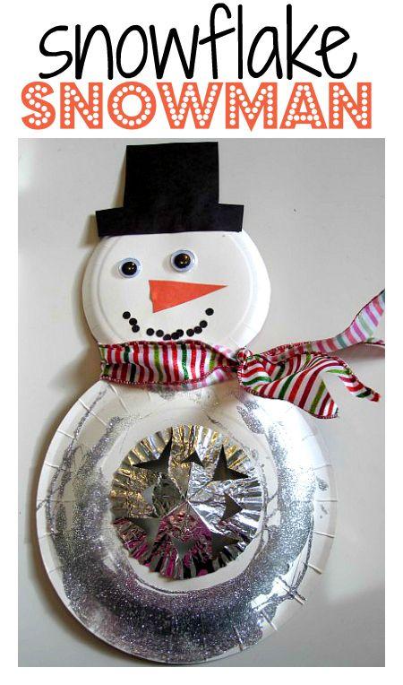 Such a pretty snowman craft!
