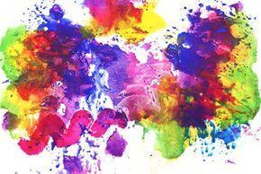 Wenn Dein Kind gerne mit Farben experimentiert, wird es diese Drucktechnik lieben. Beim Druck verschwimmen die Konturen und die Farben fließen ineinander. Das Ergebnis ist ein kleines Meisterwerk.