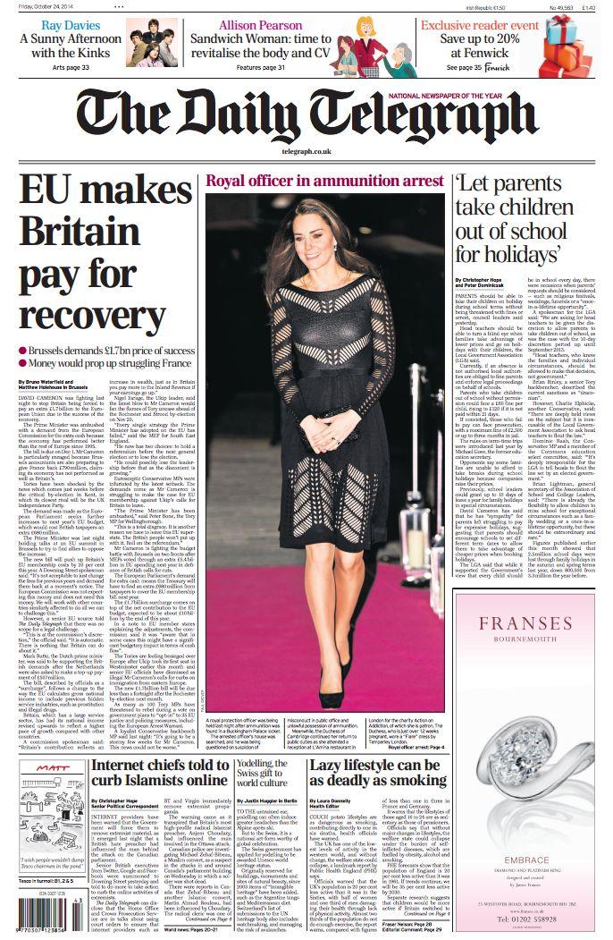 Daily Telegraph - 24.10.14.