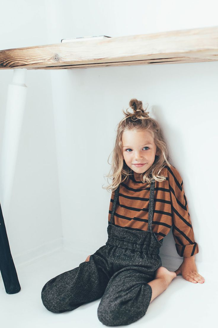 How cute is this little one with her top bun? // Little style inspiration from Zara.