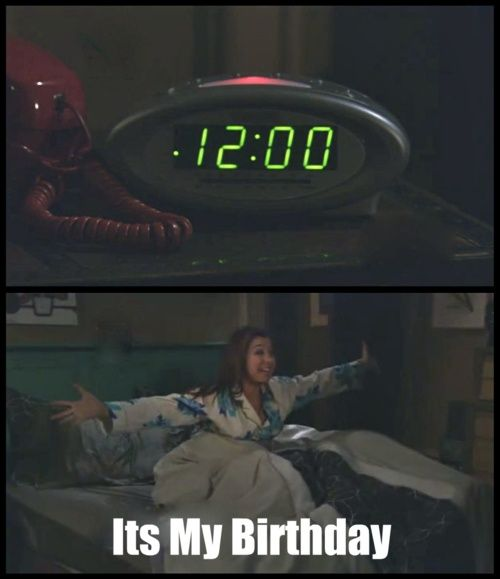 How I feel on my birthday!