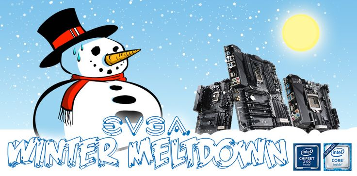 EVGA Winter Meltdown Giveaway. Prizes Include 3x EVGA Z170 Motherboards, 3x EVGA X99 Motherboards, 2x EVGA Supernova Power Supplys  and 4x EVGA TORQ Gaming Mouses.