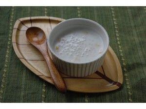 とうもろこしがアクセント!タピオカココナッツミルク