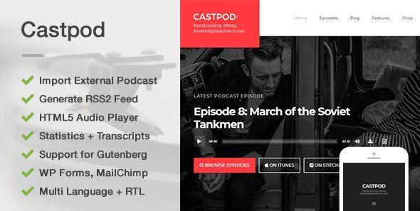 Castpod - A Professional WordPress Theme for Audio Podcasts - News / Editorial Blog / Magazine