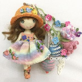 #muffinthedoll #bagcharm #amigurumi #crochet #crochetdoll #crochetdolls #handmade #handicraft #tiny #toy #toystagram #doll #dolloutfit #dollstagram #craft #kawaii #cute #ohopshop