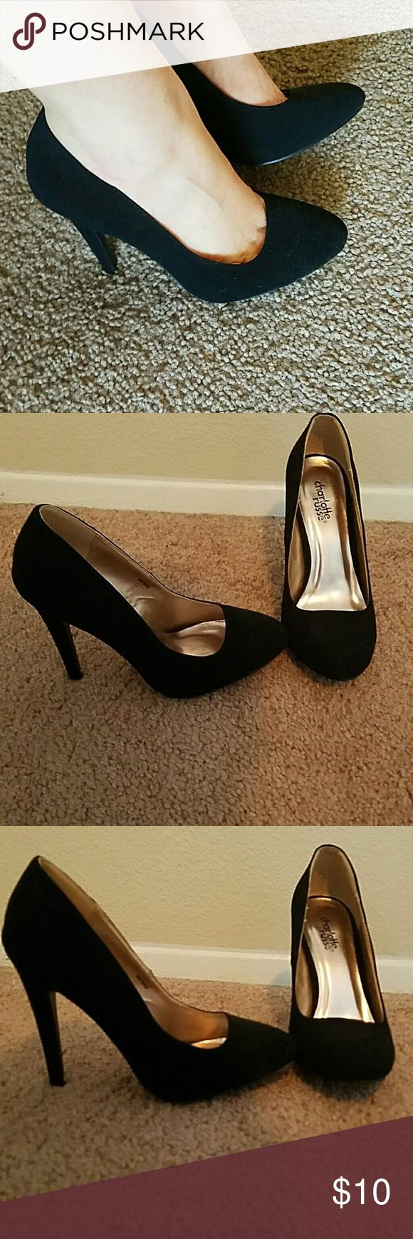 Charlotte russe heels Black heels size 5. Very comfortable. It was used once for a job interview. Charlotte Russe Shoes Heels