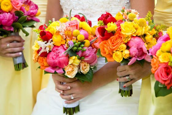 WEB-7.jpgBright Summer, Summer Wedding, Floral Design, Wedding Bouquets, Bright Wedding, Wedding Colors, Bridesmaid Bouquets, Pink Bouquet, Yellow Flower