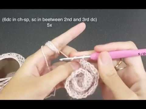 No Roll Rose crochet flower tutorial | Qays Design