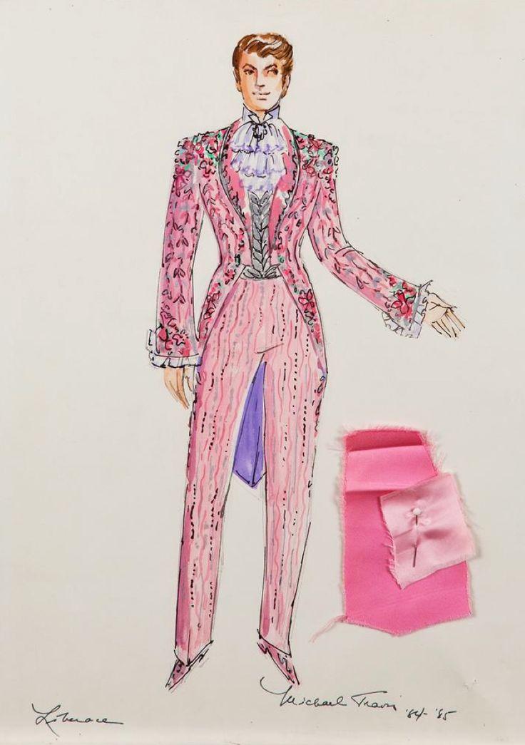 Michael Travis costume sketch for Liberace