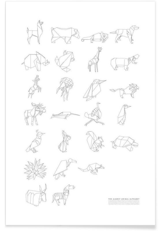 Almost Animal Alphabet als Premium Poster von Julia Marquardt | JUNIQE