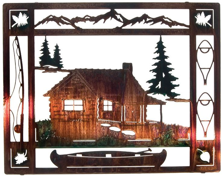 Cabin Wall Decor 18 best lodge decorating images on pinterest | lodges, fireplaces