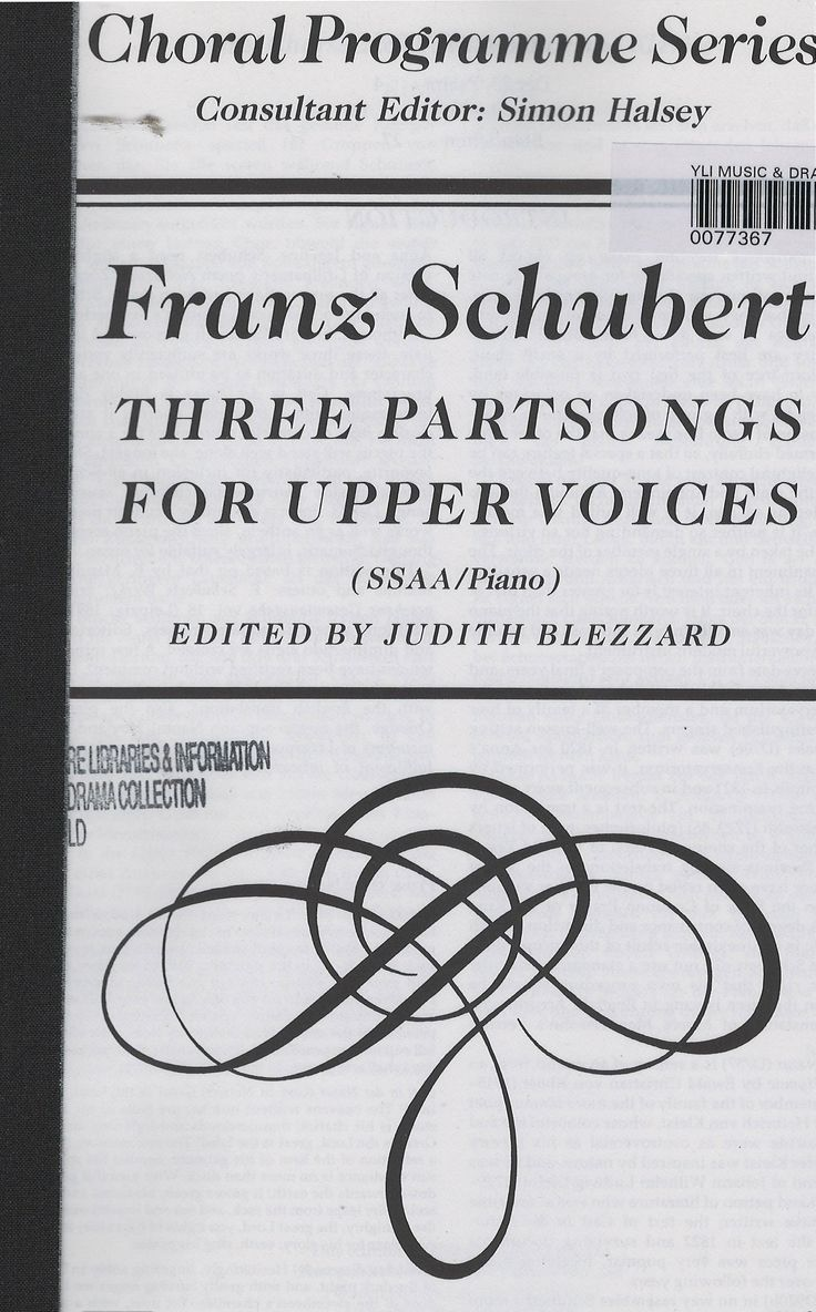 These three partsongs together represent the best of Schubert's output for groups of female voices, including his well-known setting of the 23rd Psalm, Gott in der natur and Standchen.