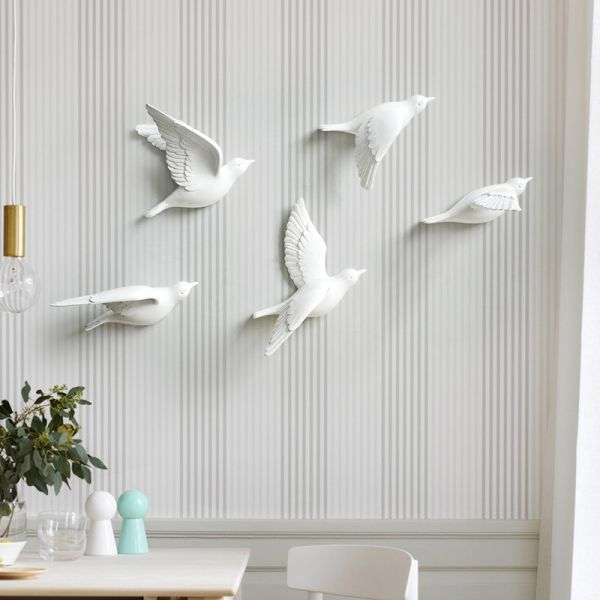 3D acrylique Feather Coiffeuse Miroir Autocollant Mural Chambre Decal Mural Home Decor