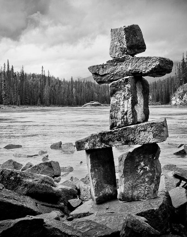 Inukshuk.  Jasper, Alberta