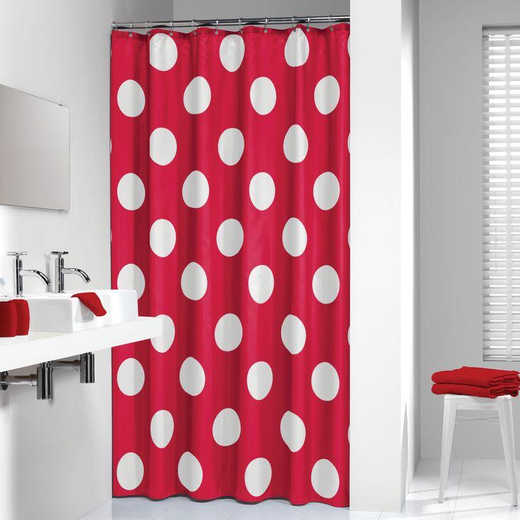 Net als uw woonkamer en slaapkamers, verdient uw badkamer ook een eigen 'touch'. Met de uitgebreide collectie douchegordijnen kunt u uw badkamer omtoveren tot een oase van reinheid en rust. Maar ook liefhebbers van drukke patronen of mooie teksten kunnen hun hart ophalen en kiezen uit de grote collectie douchegordijnen van De Gordijnspecialist. Er zijn twee soorten materialen verkrijgbaar, namelijk een textiel douchegordijn en een Peva kwaliteit. Polkadot roze rood