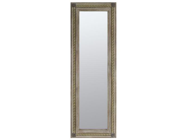 Espejo rectangular de madera envejecida espejos pinterest for Espejo madera envejecida