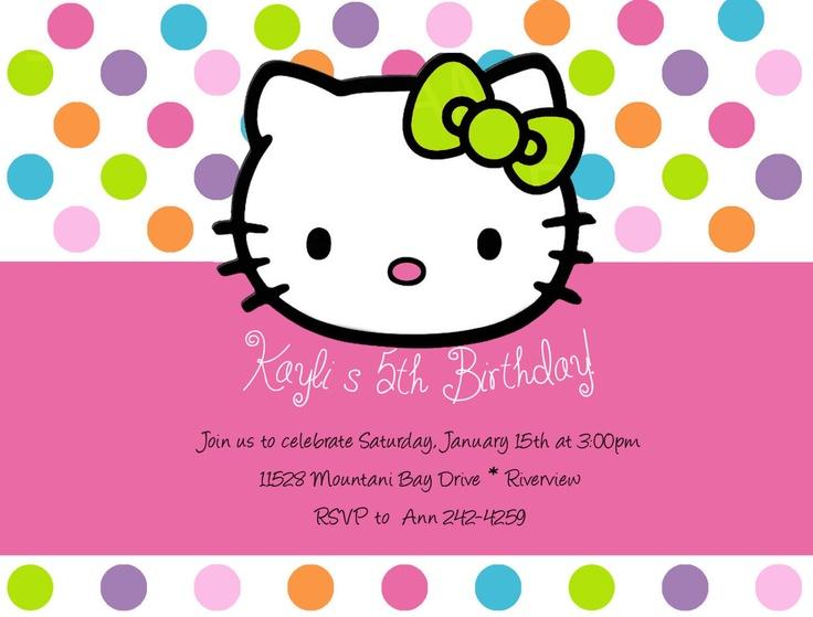 Hello Kitty Birthday Invitations by DesignsbySuzan on Etsy, $0.55