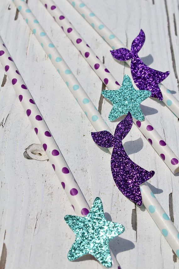 Mermaid Straws Under The Sea Birthday Party