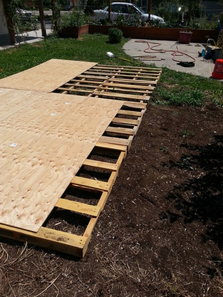 Dance Floor made from recycled pallets and plywood